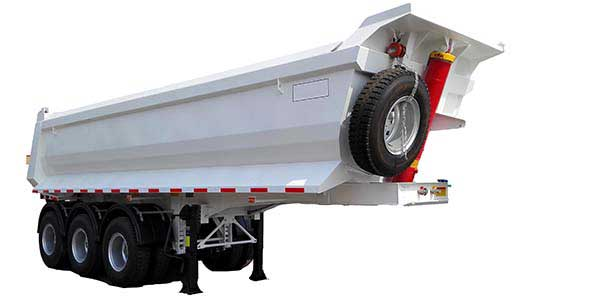 45 CBM Half Pipe Tipper Trailer With 3 Axles
