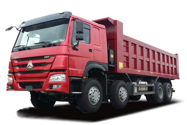 HOWO Tipper truck 8×4,Euro Ⅱ,extended cab