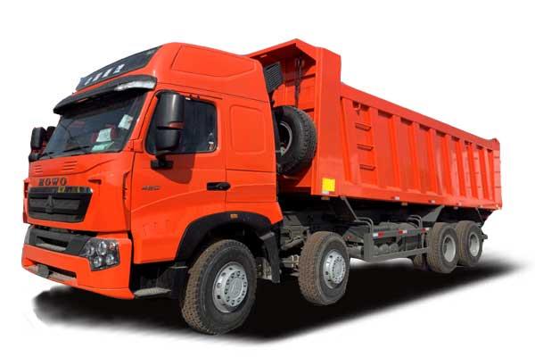 HOWO-A7 Tipper truck 8×4,Euro IV,High floor&High roof