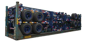 20ft Skeleton Semi Trailer with 2 Axles